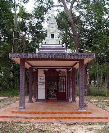 The memorial at Wat Troap Kor in Bati district - the resting place of Pan Ron