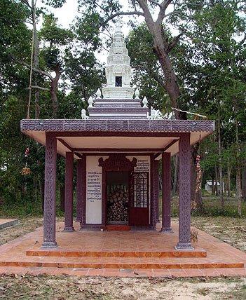 The memorial at Wat Troap Kor in Bati district - the resting place of Pan Ron
