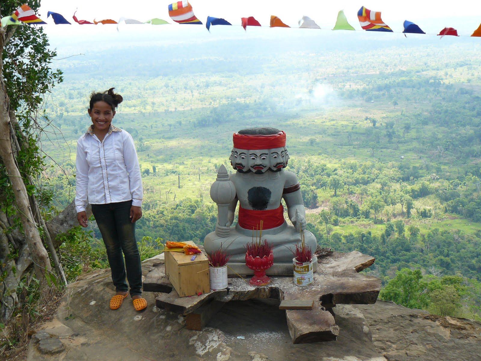 A Neak Ta on the cliff-edge above Anlong Veng