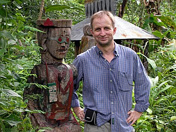 Hanuman's Andy Brouwer visits a Ratankiri gravesite